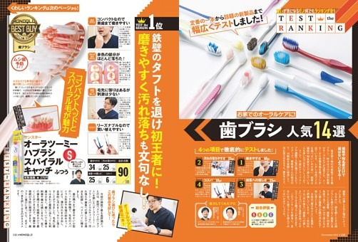 TEST the RANKING 歯ブラシ人気14選