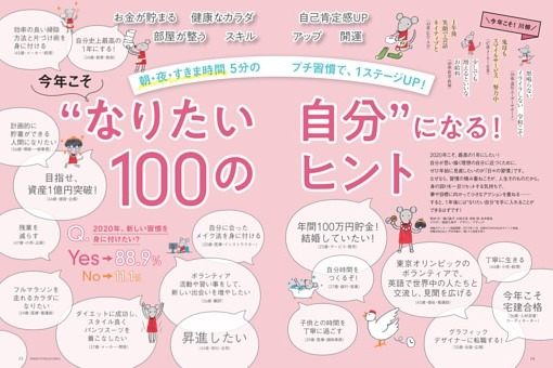 """特集1 今年こそ""""なりたい自分""""になる!100のヒント"""