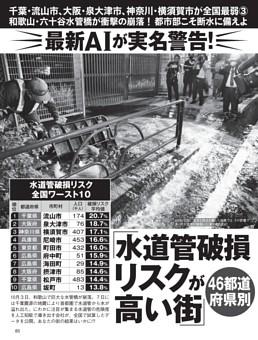 46都道府県別「水道管破損リスクが高い街」