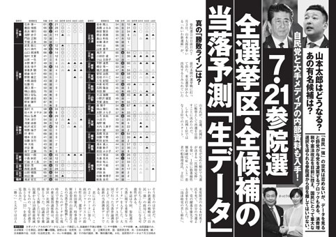 [7・21参院選]全選挙区・全候補の当落予測「生データ」