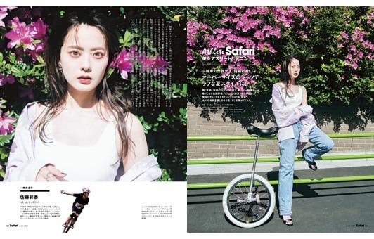 美女アスリートとデニム【佐藤彩香/一輪車選手】