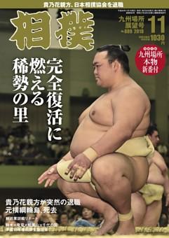相撲 2018年11月号 九州場所展望号